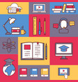 online education collage vector image vector image