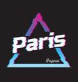 paris city glitch effect retro vector image