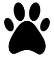 paw dog vector image vector image