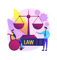 personal injury lawyer abstract concept vector image vector image