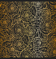 rose gold seamless pattern on black background vector image