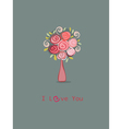 Roses love you vector image
