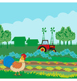 rural landscape with roster vector image vector image