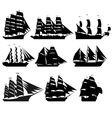 Sailing ships 1 vector image vector image
