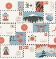 seamless pattern on theme japan vector image vector image