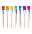 set artist colorful paint brushes vector image vector image