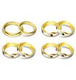 set gold wedding rings vector image