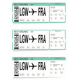 set of airline boarding pass tickets vector image vector image