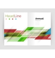 Set of business straight lines abstract vector image