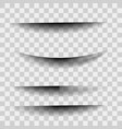 shadows isolated page divider with vector image vector image