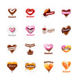 sign in form sweet food vector image