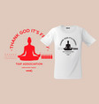 thank god it s friday print on t-shirts vector image