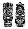 tiki pole totem design - traditional statue vector image