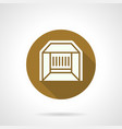 trade pavilion flat round icon vector image vector image