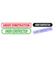 under construction rectangle seals with unclean vector image vector image