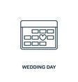 wedding day outline icon premium style design vector image vector image