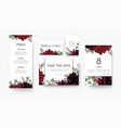 wedding save the date menu label table number vector image vector image