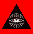 wiccan symbol protection triangle mandala icon vector image vector image