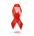 world aids day concept aids awareness red ribbon vector image vector image