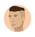 Barber Hair style Undercut vector image