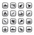 weapon and arms Icons vector image