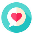 love message circle icon vector image