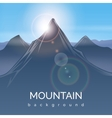 Mountain landscape background with sunbeam vector image