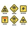 skull signs death notice symbols set vector image