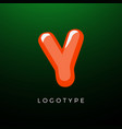3d playful letter y kids and joy style symbol vector image vector image