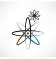 a symbolic representation of the molecule vector image vector image