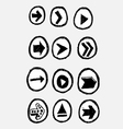Arrow icon set design vector image