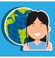 avatar with planet earth isolated icon design vector image