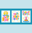 balloon font set of greeting cards vector image