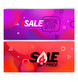 banners template with abstract color shapes sale vector image vector image