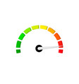 benchmark level measure scale meter vector image vector image