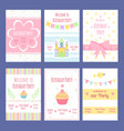birthday invitation cards template with vector image vector image
