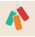 Blank Tags vector image vector image