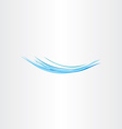 blue water wave flow icon logo vector image vector image