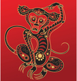 chinese horoscope year monkey vector image vector image