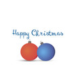christmas balls xmas card holiday background vector image