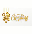 christmas party calligraphy lettering greeting vector image vector image