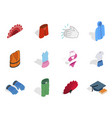 clothes icon set isometric style vector image vector image