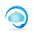 cloud environment protection vector image