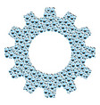 cogwheel composition of retort icons vector image