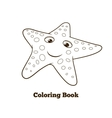 Coloring book starfish fish cartoon vector image vector image