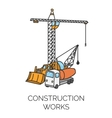 Construction works sign vector image vector image