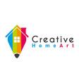 creative home idea logo design template vector image