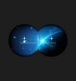 creative of binoculars view vector image vector image