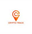crypto track logo vector image