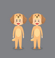 cute character wearing dog costume vector image vector image